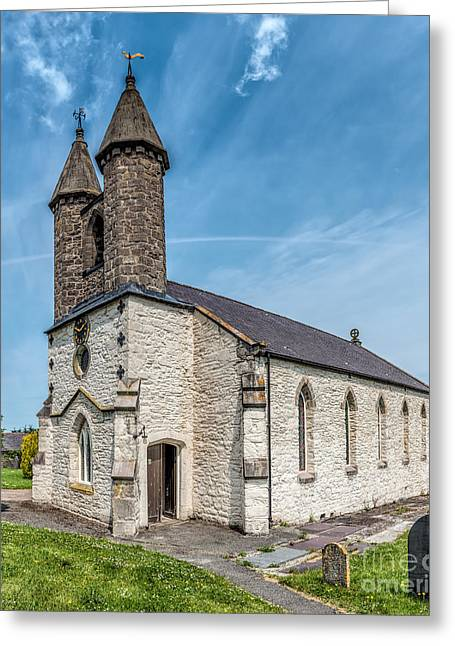 Gravestones Greeting Cards - St Michael Church Greeting Card by Adrian Evans