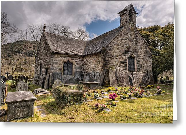 Gravestones Greeting Cards - St Michaels Church Greeting Card by Adrian Evans