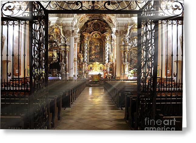 Altar Picture Greeting Cards - St. Michaels Greeting Card by Edmund Nagele