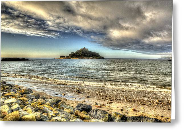 Cathedral Rock Greeting Cards - St Michaels Mount Cornwall England medieval castle  Greeting Card by Michael Charles