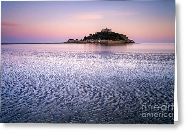 Vista Greeting Cards - St Michaels Mount Cornwall Greeting Card by John Farnan