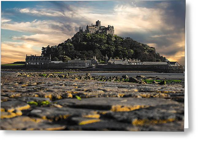Cornwall Greeting Cards - St Michaels Mount Cornwall uk Greeting Card by Martin Newman