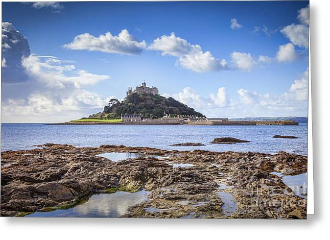 St Michael Greeting Cards - St Michaels Mount Marazion Cornwall England Greeting Card by Colin and Linda McKie