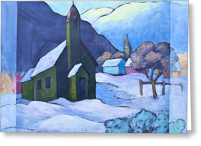 Church Painter Greeting Cards - St MICHAELS Greeting Card by Theresa Tahara