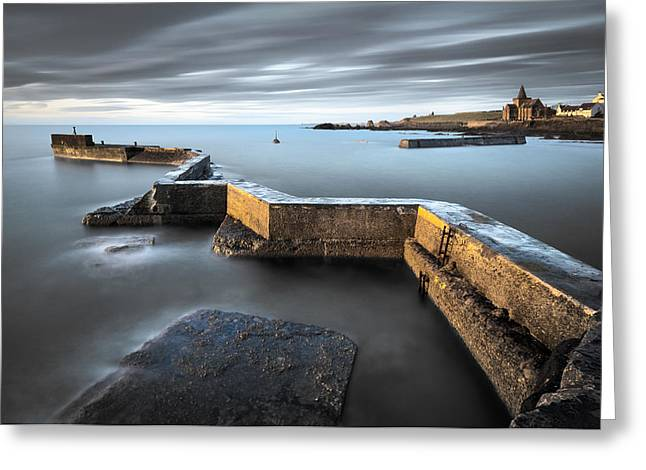 Picturesque Greeting Cards - St Monans Dawn Greeting Card by Dave Bowman