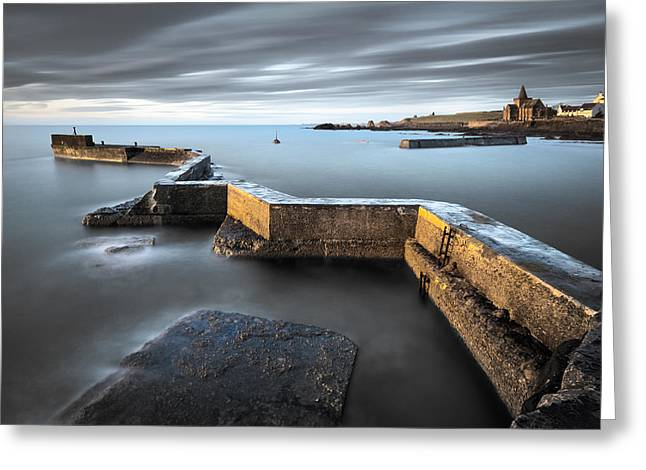 Breakwater Greeting Cards - St Monans Dawn Greeting Card by Dave Bowman