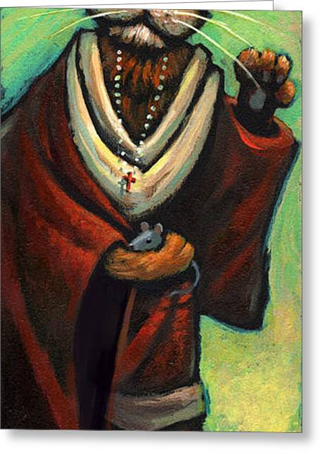 Patron Saint Greeting Cards - St. Mouser Greeting Card by Jeff Haynie