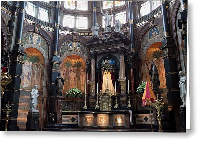 Nicholas Greeting Cards - St Nicholas Church Interior in Amsterdam Greeting Card by Artur Bogacki