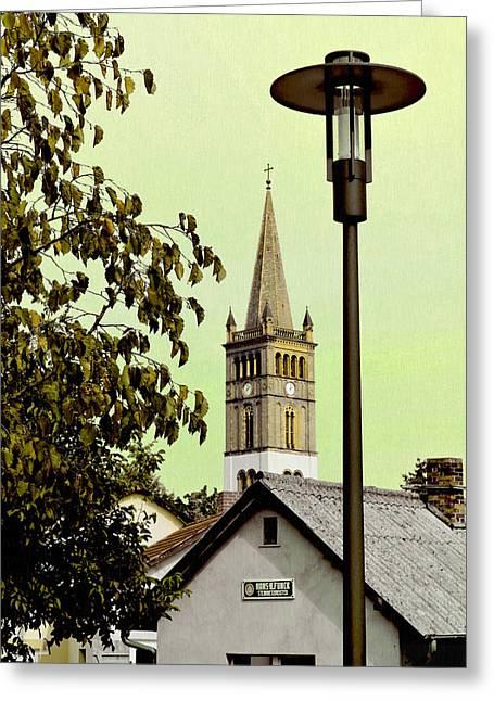 Deutschland Mixed Media Greeting Cards - St. Nicholas Church / St. Nicolai Kirche  Greeting Card by Gynt