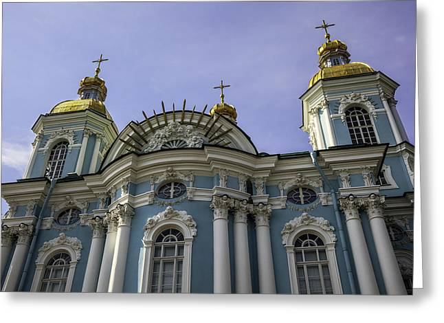 Nicholas Greeting Cards - St. Nicholas Naval Cathedral - St. Petersburg - Russia Greeting Card by Madeline Ellis