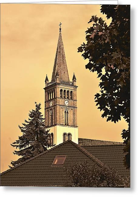 Barock Greeting Cards - St. Nicolai Kirche / St. Nicholas Church Greeting Card by Gynt
