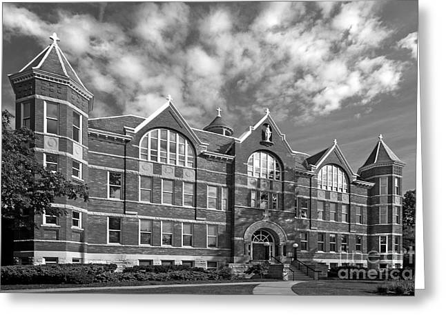 Architecture Greeting Cards - St. Norbert College Main Hall Greeting Card by University Icons