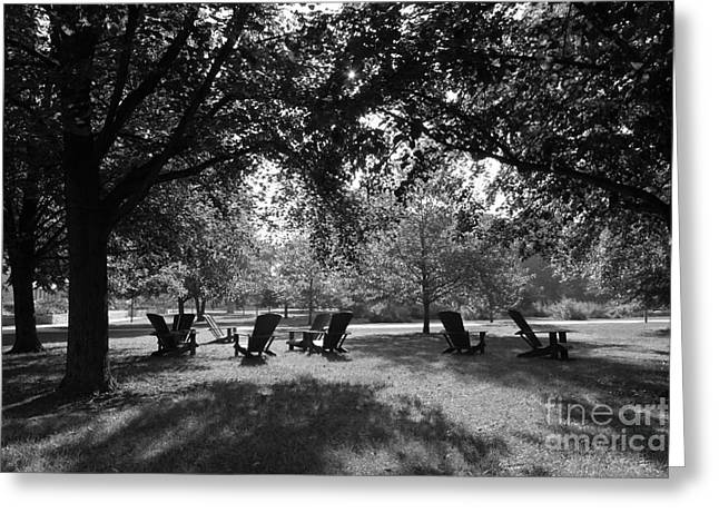 Iconic Chair Greeting Cards - St. Olaf College Adirondacks on the Quad Greeting Card by University Icons
