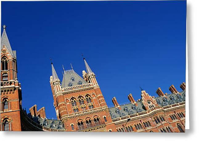 Victorian Greeting Cards - St Pancras Railway Station London Greeting Card by Panoramic Images