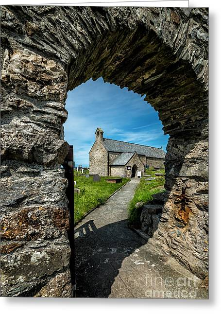 St Patrick Arch Greeting Card by Adrian Evans