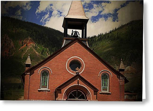 St. Patrick Silverton Colorado Greeting Card by Janice Rae Pariza