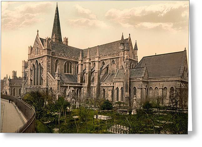 Headstones Greeting Cards - St Patricks Cathedral - Dublin Ireland 1897 Greeting Card by Mountain Dreams