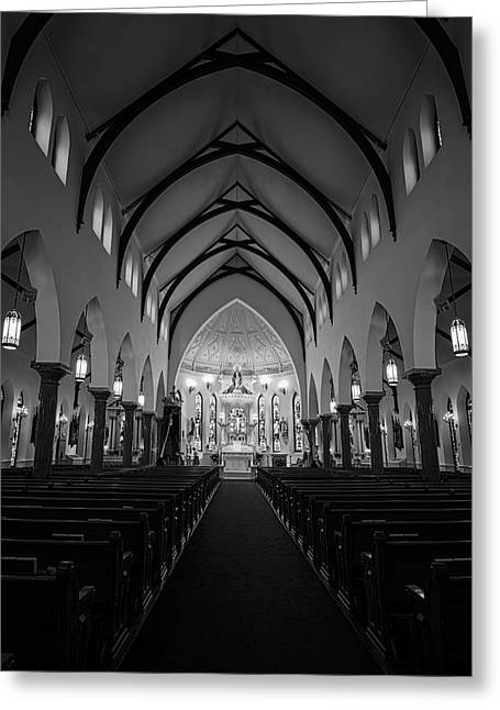 St Patricks Cathedral Fort Worth Greeting Card by Joan Carroll