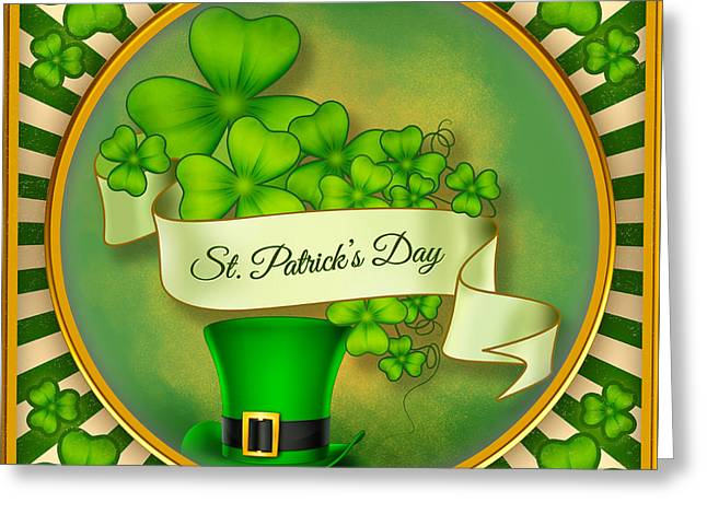 Green Day Greeting Cards - St. Patricks Day Greeting Card by Bedros Awak