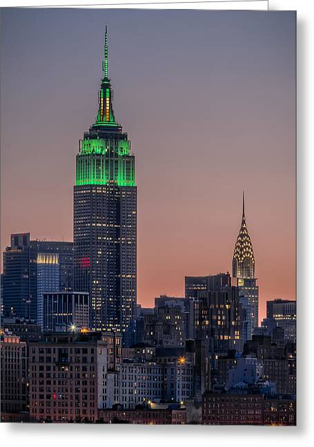 Highrise Digital Greeting Cards - St Patricks Day postcard Greeting Card by Eduard Moldoveanu