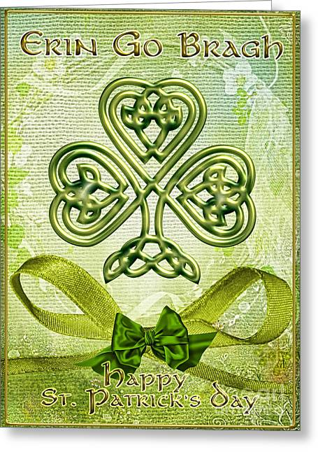March Greeting Cards - St. Pattys Greeting Card by Mo T