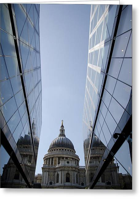 Office Space Photographs Greeting Cards - St Paul Cathedral London Greeting Card by Mesha Zelkovich