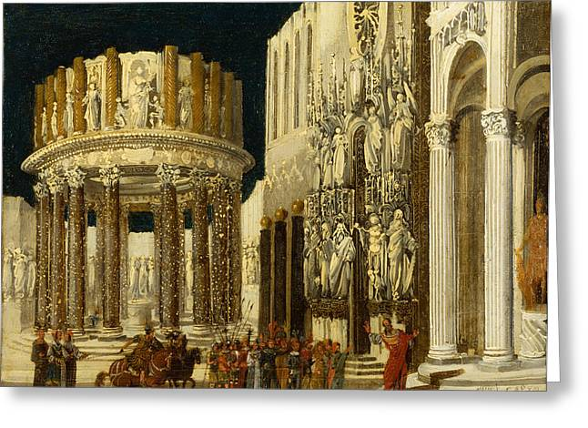 Nome Greeting Cards - St Paul Preaching to the Athenians Greeting Card by Francois de Nome