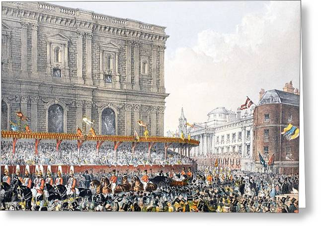 Royalty Greeting Cards - St Pauls, 7th March 1863, From A Greeting Card by English School