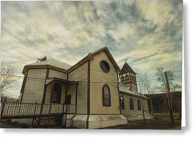 Goldrush Greeting Cards - St. Pauls Anglican Church Greeting Card by Priska Wettstein