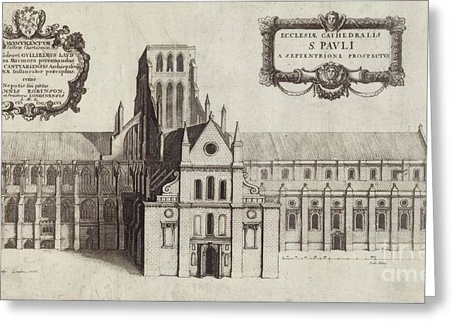 1656 Greeting Cards - St Pauls Cathedral, 17th Century Artwork Greeting Card by British Library