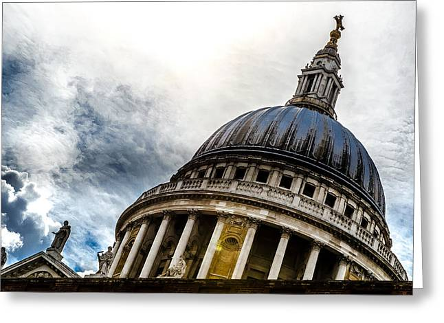 Domes Pastels Greeting Cards - St Pauls Cathedral Greeting Card by Anastasia E