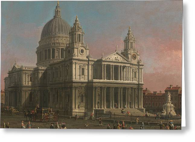 Canaletto Greeting Cards - St Pauls Cathedral Greeting Card by Canaletto