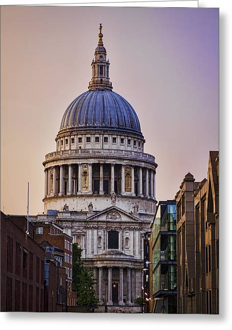 Reverend Greeting Cards - St Pauls Cathedral Greeting Card by Heather Applegate