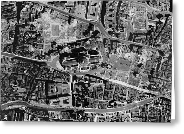 Post-war Greeting Cards - St Pauls Cathedral, Historical Aerial Greeting Card by Getmapping Plc