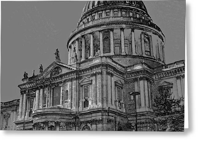 St Paul's Cathedral London Art Greeting Card by David Pyatt