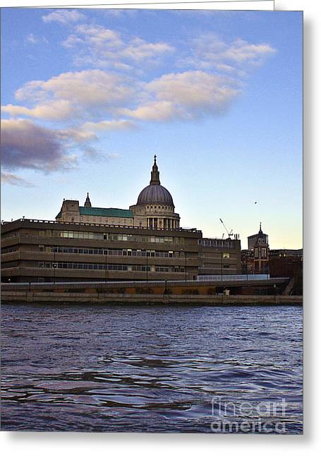 Terri Waters Greeting Cards - St Pauls Cathedral London Greeting Card by Terri  Waters