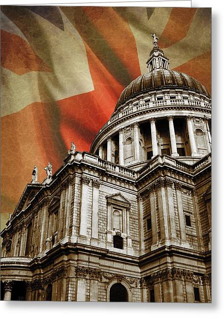 Religion Church Greeting Cards - St Pauls Cathedral Greeting Card by Mark Rogan
