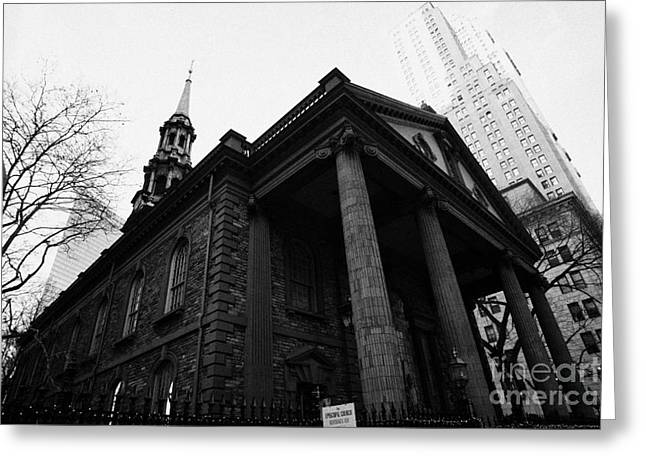 Manhaten Greeting Cards - St Pauls Chapel ground zero new york city Greeting Card by Joe Fox