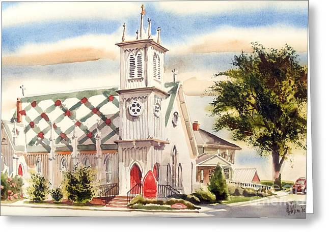 Arcadia Mixed Media Greeting Cards - St. Pauls Episcopal Church II Greeting Card by Kip DeVore