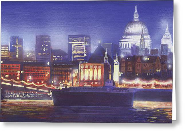 St Paul's Landscape river Greeting Card by MGL Meiklejohn Graphics Licensing