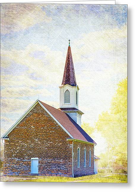 New Melle Greeting Cards - St Pauls Lutheran Church Greeting Card by Bill Tiepelman