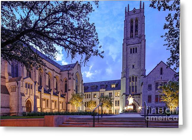 Religious Art Photographs Greeting Cards - St. Pauls United Methodist Church - Houston Texas Greeting Card by Silvio Ligutti