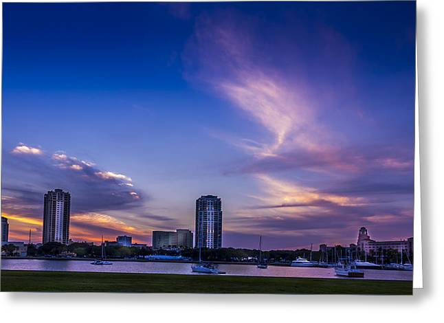St. Pete At Sunset Greeting Card by Marvin Spates