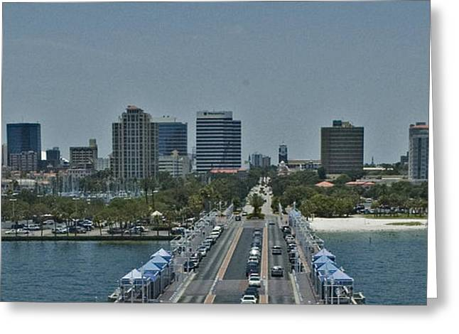 Citys Greeting Cards - St Pete Beach Pier Greeting Card by Dennis Tyler