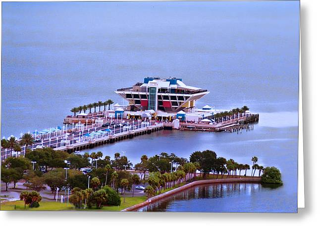 St Petersburg Florida Greeting Cards - St Pete Peir Greeting Card by Sherry Williamson