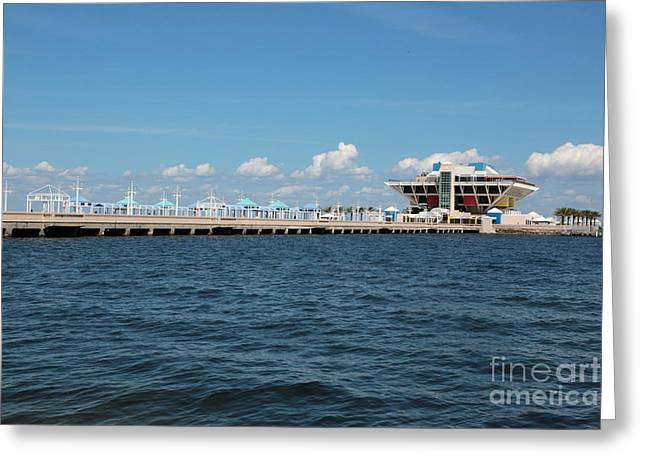 St. Petersburg Florida Greeting Cards - St Pete Pier Greeting Card by Carol Groenen