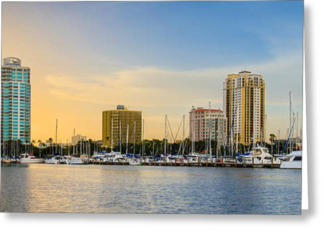St. Petersburg Florida Greeting Cards - St Pete Sun Greeting Card by Clay Townsend
