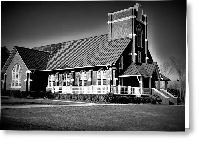 Church Greeting Cards - St Peter Lutheran Church Chapin SC  HDR Greeting Card by Lisa Wooten