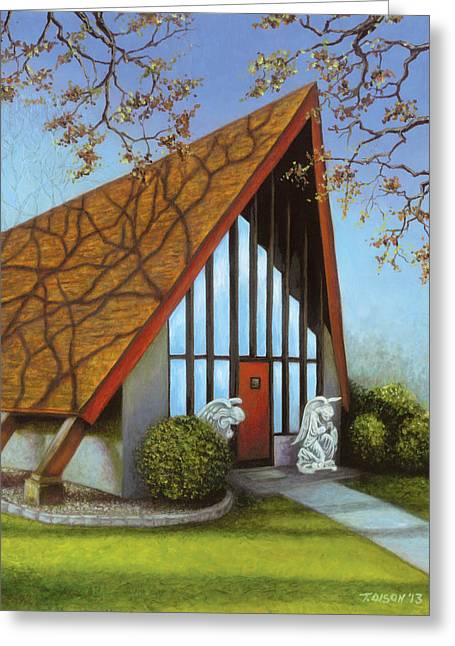 St. Peters Adoration Chapel Greeting Card by Tammy Olson