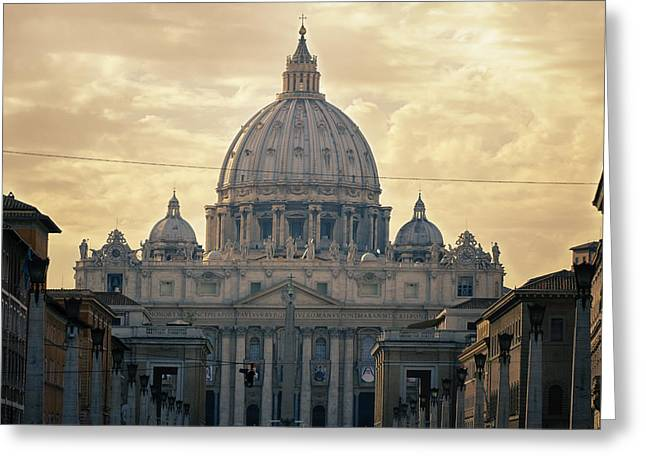 St Peter's Afternoon Glow Greeting Card by Joan Carroll